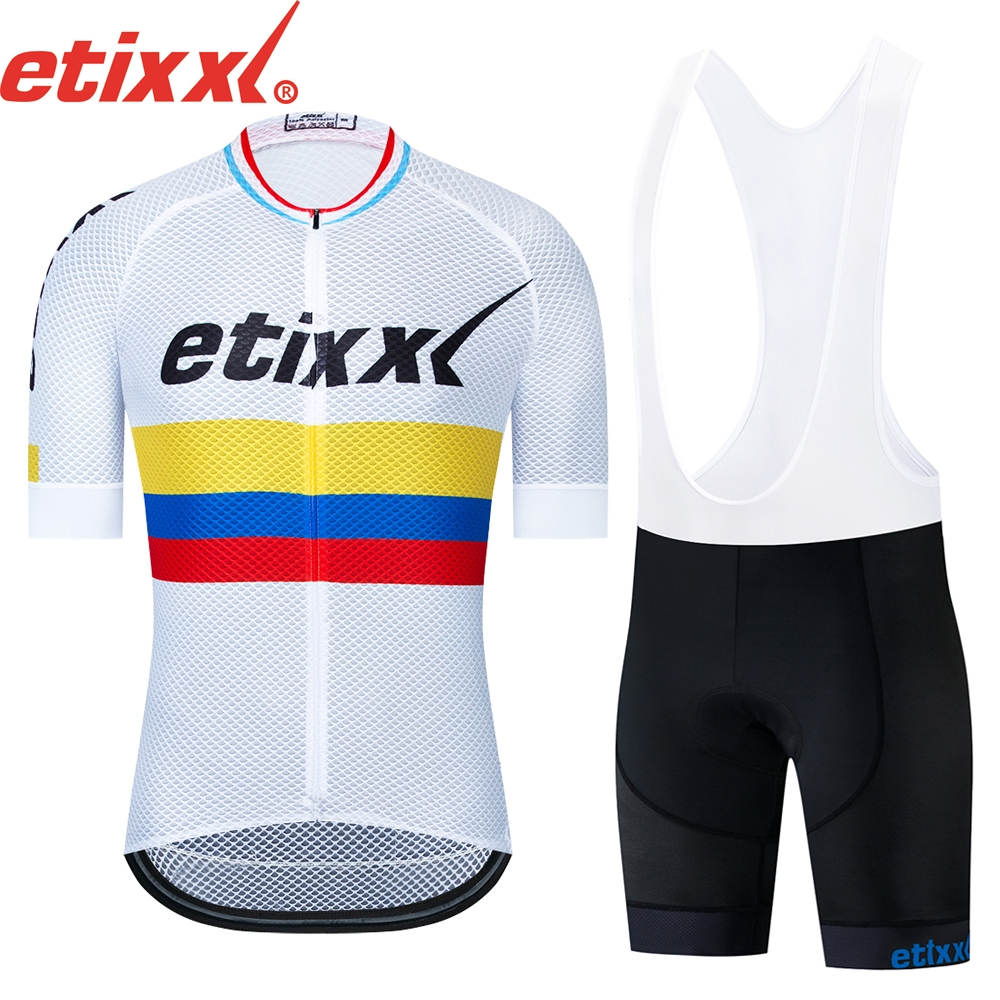 2020 Team etixxl Cycling Jerseys <font><b>Bike</b></font> <font><b>Wear</b></font> clothes Quick-Dry bib gel Sets Clothing Ropa Ciclismo uniformes Maillot Sport <font><b>Wear</b></font> #8 image