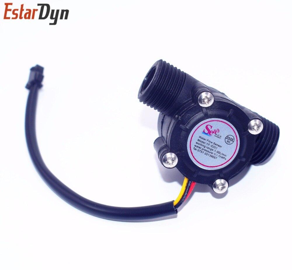 New Water Flow Sensor Flowmeter Hall Flow Sensor Module Water Control 1-30L//min