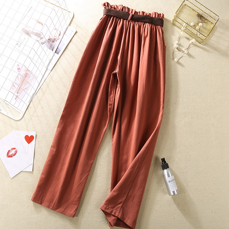 Garemay Cotton Linen   Pants   for Women Trousers Loose Casual Solid Color Women Harem   Pants     Capri   Women's Summer