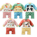 Cartoon Baby Girl Boy Cotton Rompers Infant Cute Wearing Newborn Long Sleeve Pajamas Kids One-Piece Climbing Clothes