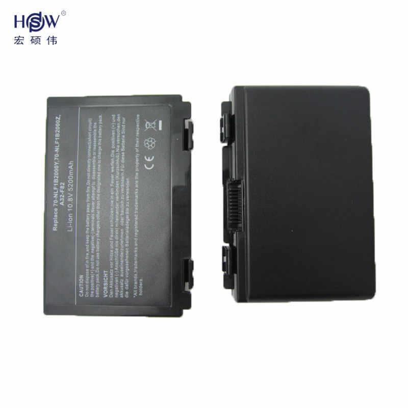 HSW Baterai Laptop untuk ASUS K50IJ K50AB A32 F82 K50ID K42J K40IN K50IN F52 F82 K40 K50 K40E K51 K60 k70 A32-F52 A32-F82 Baterai