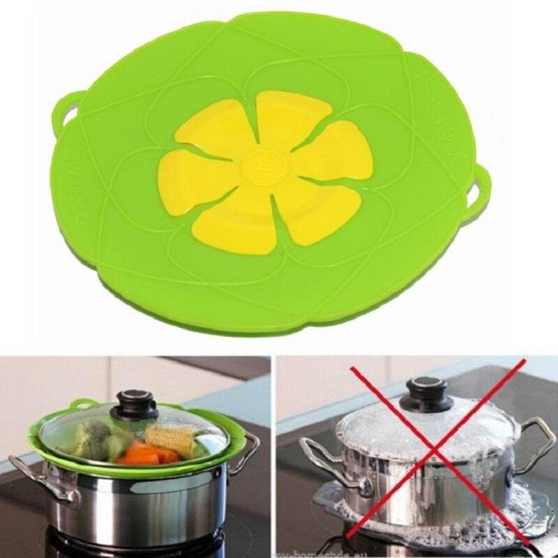 Multi-función de herramientas de la cocina de partes de utensilios de cocina de silicona hervir derrame tapa tapón horno seguro para olla/Pan diámetro cubierta de 26c