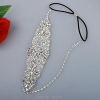 2016 New Design Fashion Glass Stone Beaded Wedding Bridal Headband Bride Headpiece Hair Crown Handmade