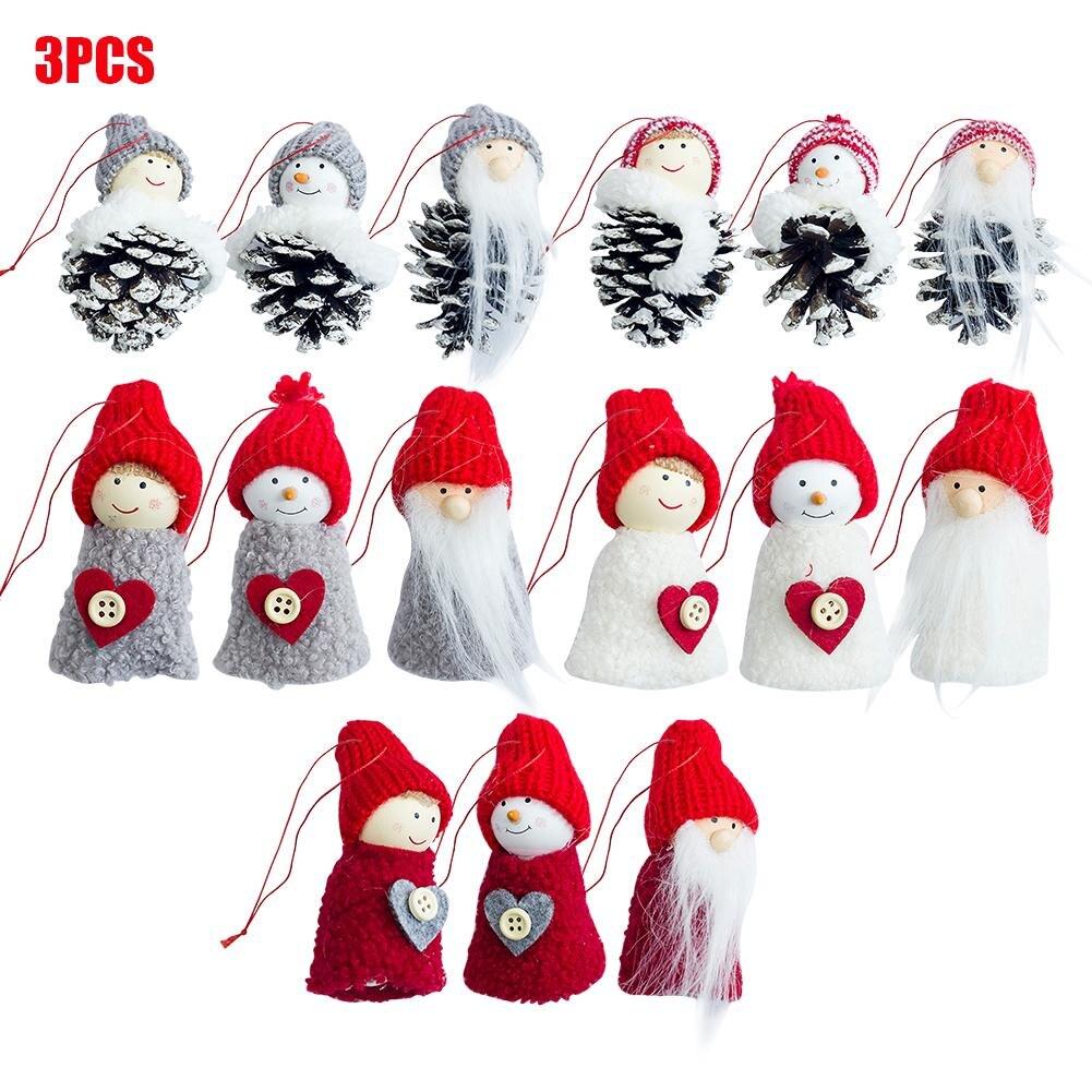 Three piece Set Doll Gift Christmas Decor Christmas Tree Pendant For ...