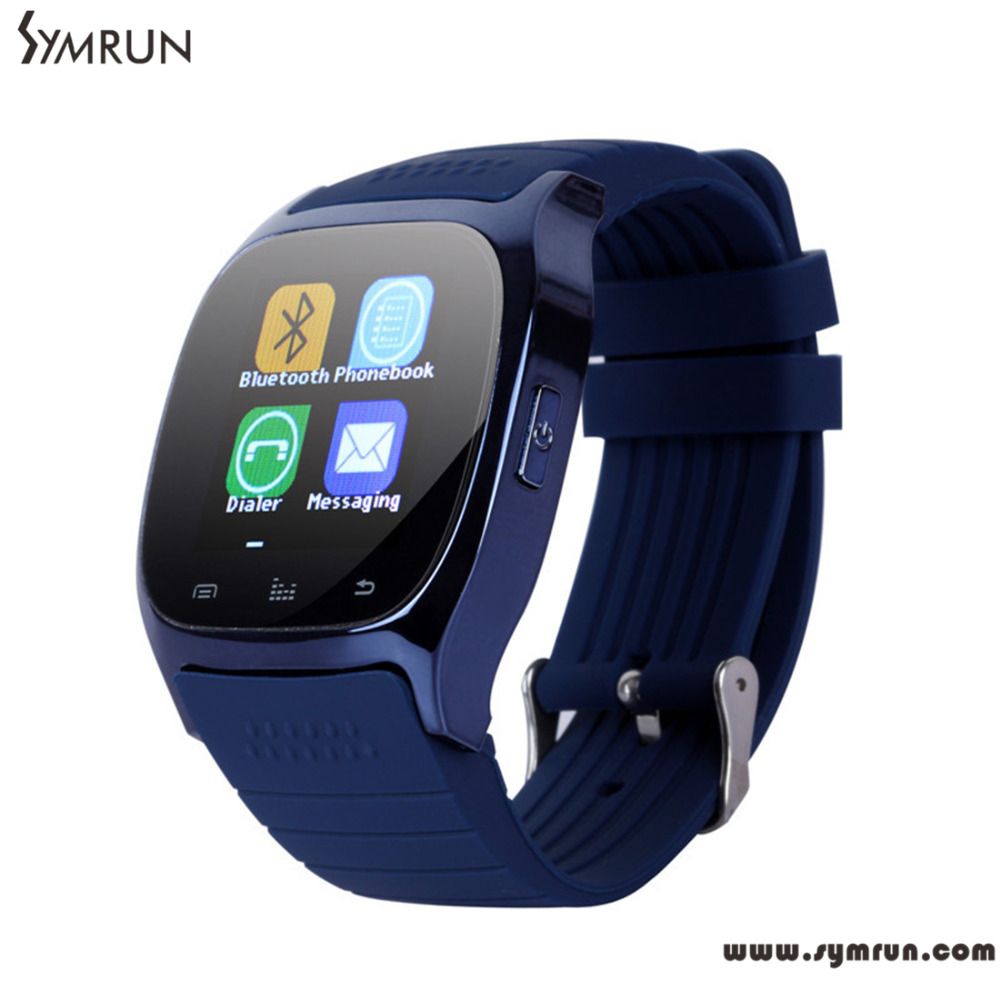 Symrun M26 font b Smartwatch b font Smart Watch Android With Sms Remind Pedometer Whatsapp Wearable