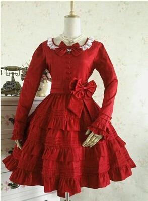 (LLT062) Autumn outfit gothic Lolita dress long sleeved cosplay dress bitter fleabane bitter fleabane restoring ancient ways