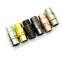 10set Strong Magnetic Clasps fits 3mm 4mm 5mm 6mm 8mm Round Leather Cord Bracelets Connectors End Caps for DIY Jewelry Making