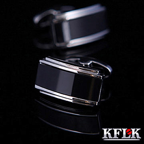 KFLK Hot Luxury 2019 gemelos shirt cufflink for mens Gift Brand cuff buttons Black cuff link High Quality abotoaduras Jewelry