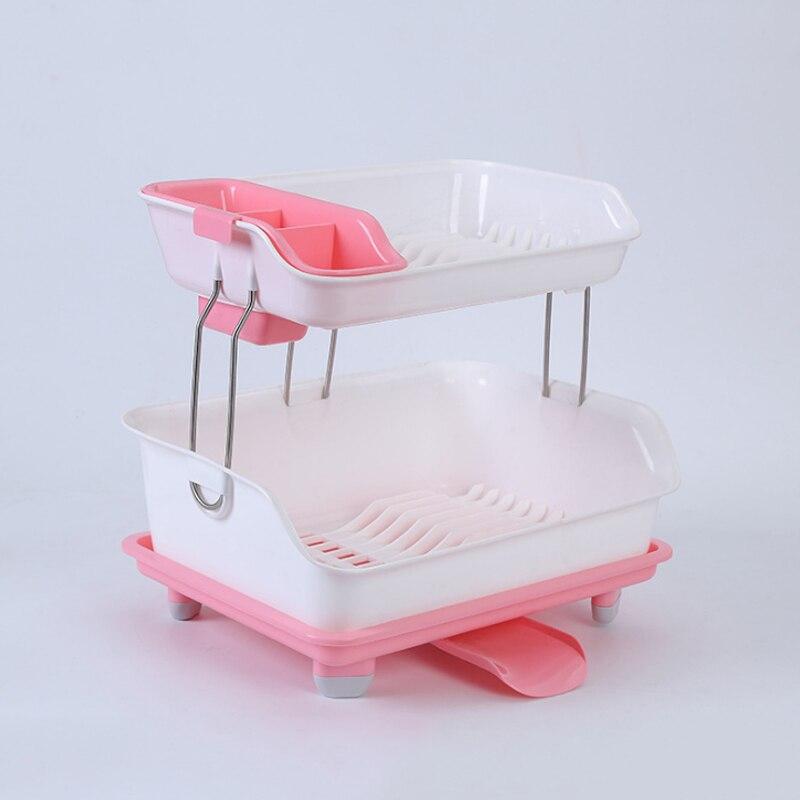 Creative Use Drain Basket Kitchen Multi layer Plastic Cupboard Chopsticks Tableware Storage Box Holder Drain Dishes Shelves