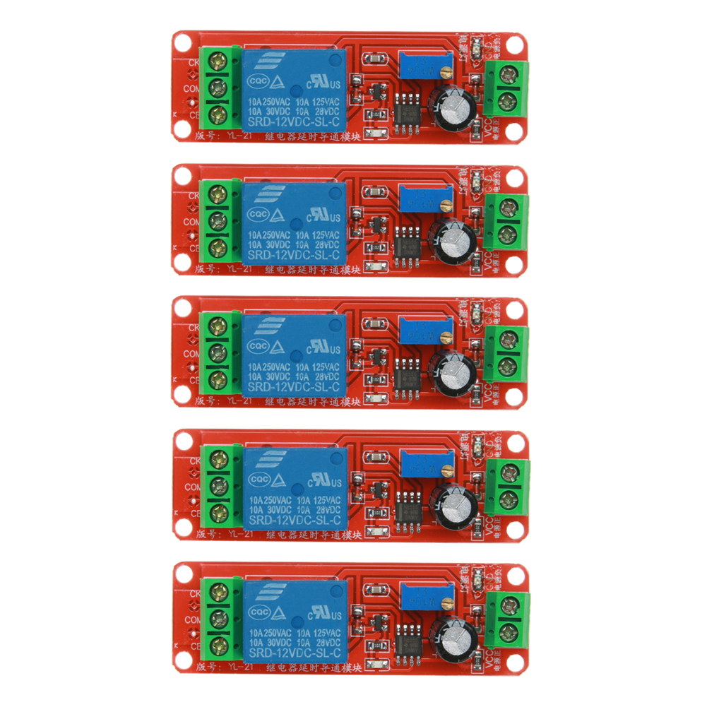 5pcs DC12V 2200W Delay Relay Modules Shield NE555 Timer Switch Adjustable Module Multifunction Equipment Switch Home Improvement navo ne555 time delay monostable switch module board red page 9
