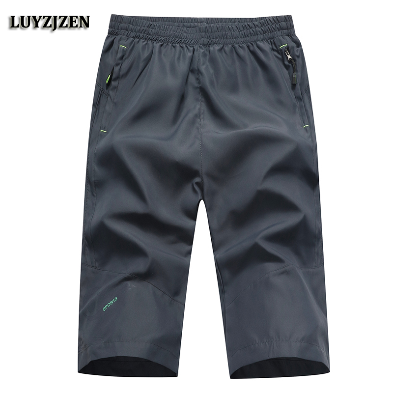 Summer Shorts Men New Arrival Mens Breathable Bermuda Shorts Knee Length Elasticity Brand Quick Dry Casual Solid Plus Size 638