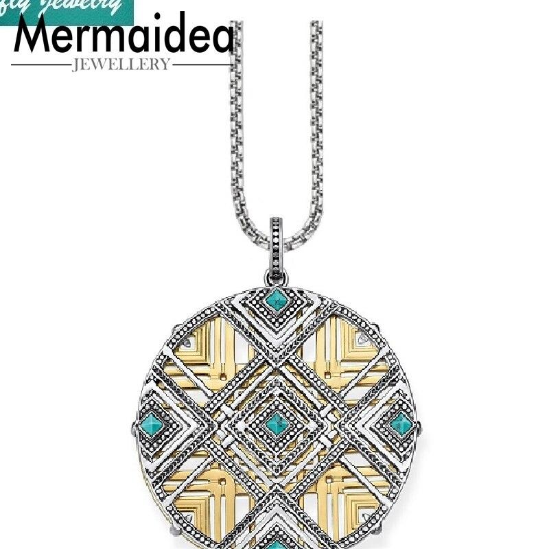 Afrique Continent Ornements colliers pendentifs 2019 Nouveau Lien Chaîne 925 Sterling Silver Cool cadeau bijoux mode bijoux femmes