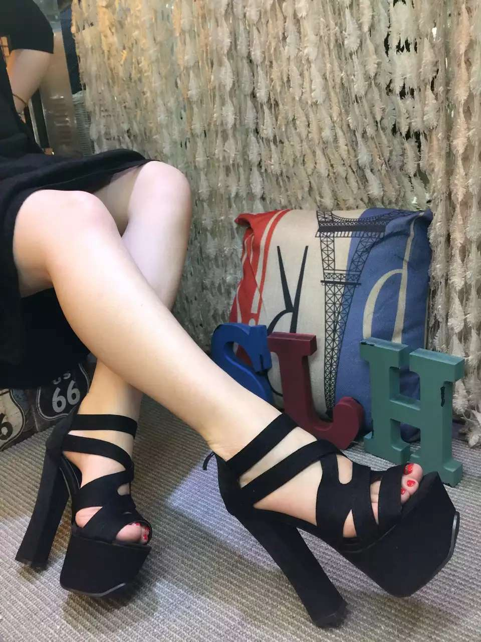 15cm thick with sandals 2016 spring and summer dance T station Hentian superb high-heeled shoes waterproof shoes fish head весна милана 5 со звуком в2203 о
