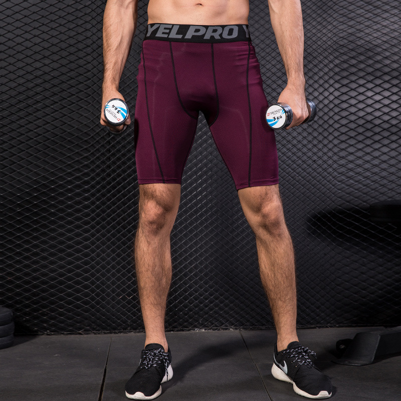 Men Gym Shorts Dry Fit Underwear Fitness Running Boxers Breathable Football Soccer Shorts Workout Skinny Sport Training Tights in Running Shorts from Sports Entertainment