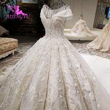 AIJINGYU Indian Wedding Dress Alternative Gowns Modest Pakistani Navy Singapore Pleats Open Back Wedding Dresses For Sale