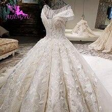 AIJINGYU הודי חתונה חלופי שמלה צנועות שמלות פקיסטני כהה סינגפור קפלי גב פתוח חתונה למכירה
