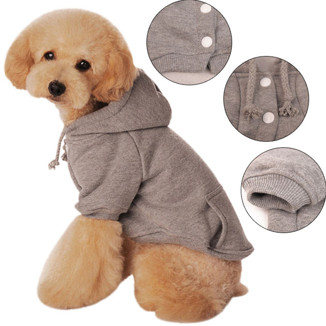 New Warm Hoodie Coat Pet Dogs Cat Puppy Costume Jacket Clothes For Dog