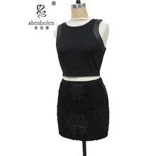 2016 Vintage Embroidery Black Tulle Skirts high waist Woman pettiskirt office miniskirt kilt balloon faldas mujer