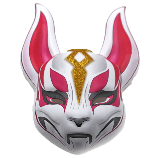 battle royale face mask fox kitsune animal full head fox. Black Bedroom Furniture Sets. Home Design Ideas