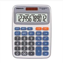 Desktop office calculator 2M solar dual power OSALO new 12 - digit display calculators key bench calculator 5500 calculator solar dual power metal surface office electronic calculators for financeira school