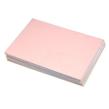 цена на 5pcs/lot 10x15 FR4 Fiberglass Board 10*15cm PCB Single Side Prototype Board diy Laminate Printed Circuit Board Electronic Plate