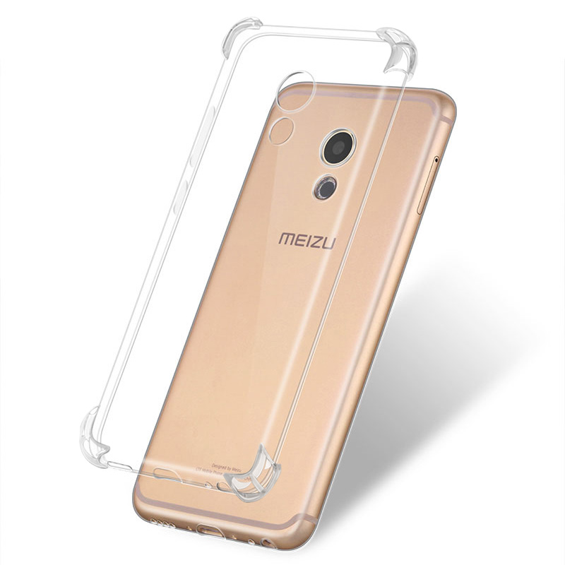 2019 Fashion 4 Angle Airbag Shockproof Phone Case For Meizu M16 Plus M3s M5 M6 Note For Meizu 15 Plus Pro7 Tpu Soft Transparent Cases Reliable Performance