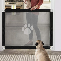 Pet Magic Gate for Dogs Cat Fence Indoor Safety Guard Portable Isolation Net Gates for Pets Dog Accessories Ingenious Mesh