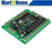 Free Shipping UC536 Programmable Logic Controller PLC Module Input 12V DC PWM Stepper Motor Driver Relay Board @CF