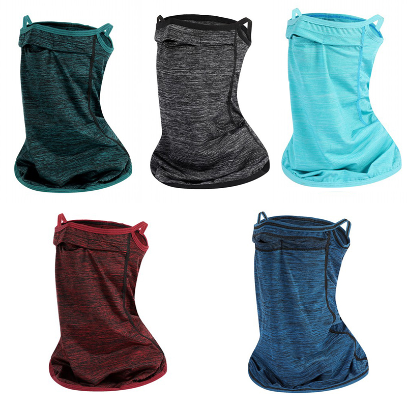2 Colors Sunscreen Scarf Fishing Scarf Accessories For Cycling Climbing Summer