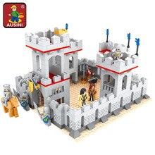 AUSINI Model building kits city castle 686 pcs 3D blocks model building toys