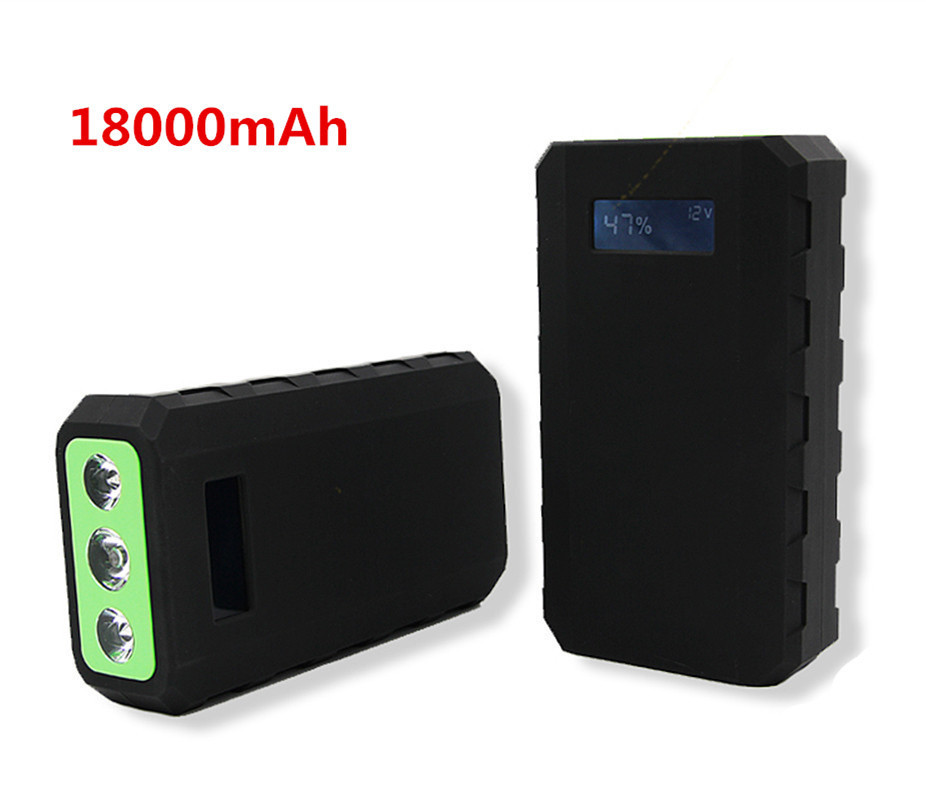 18000mAh Car Jump Starter power bank 12V Auto Booster Multifunctional  Emergency Ignition travel starting device for vehicles