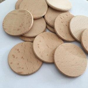 Image 5 - 100 шт. кусочки натурального дерева, 1,96 дюйма, деревянные поделки, круглые деревянные кусочки DIY для дня рождения, вечеринки, стола с цифрами, свадебной живописи