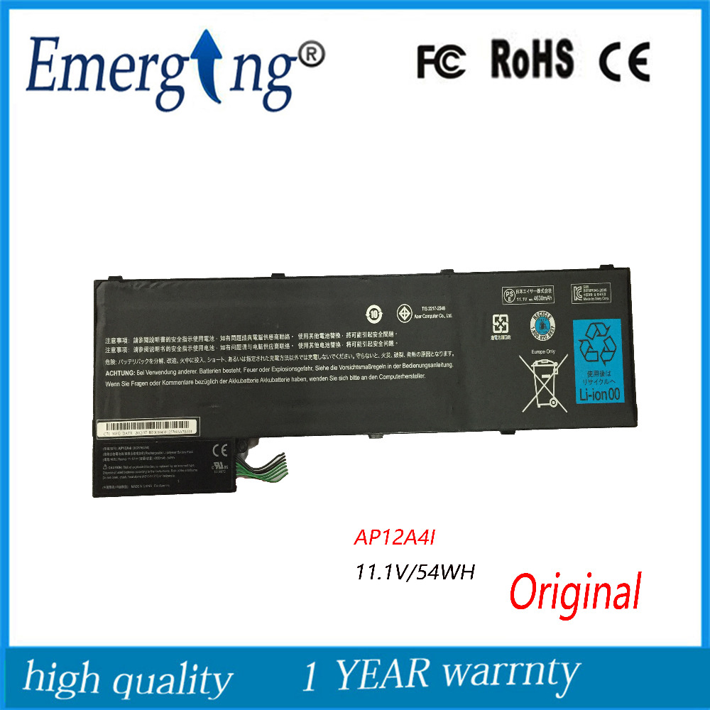 11.1v New Original Laptop Battery for Acer Timeline Ultra U M3 M5-481TG M5 M3-581TG AP12A3i 1 AP12A4i MA50 защитная плёнка для huawei mediapad m2 8 0 антибликовая luxcase