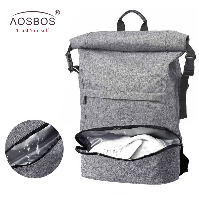 53f89f0cb41e Aosbos Outdoor Multifunction Waterproof Sports Bags Large Capacity Gym Bag  with Shoe Pocket Durable 17 Inch Laptop Backpack