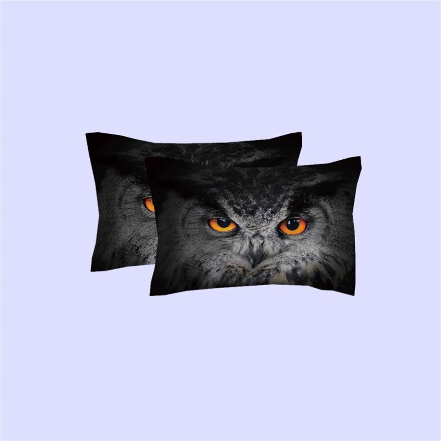 Coruja Bandeira American Eagle 3D Pássaro Impresso Cama Gêmeo Ajustado Queen Size Rei Capa de Edredão Caso Pillow Folha de Cama Em Casa conjuntos têxtil - 4