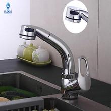 Ulgksd Кухонная мойка кран Chrome на бортике полированная один handlekitchen кран экономить воду смеситель горячей и холодной водопроводной воды