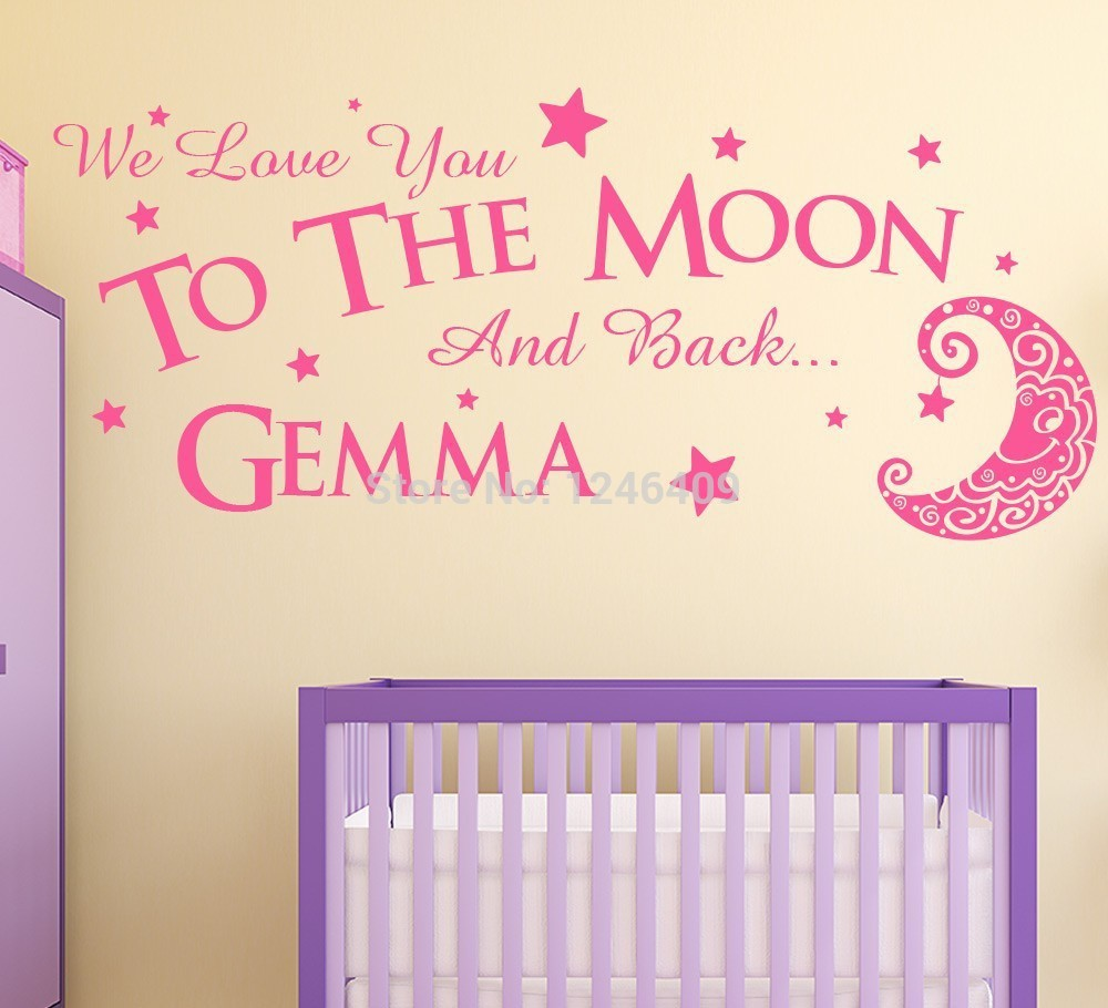 Nursery Quote Decals PromotionShop For Promotional Nursery Quote - Personalized custom vinyl wall decals for nursery
