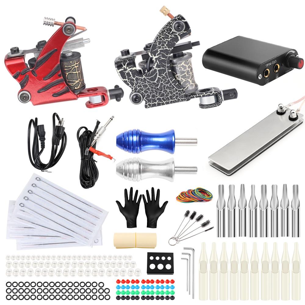 все цены на Stigma Tattoo Complete Kit 2 Coil Tattoo Machine Power Supply Foot Pedal Switch Needles Set TK201-38 онлайн