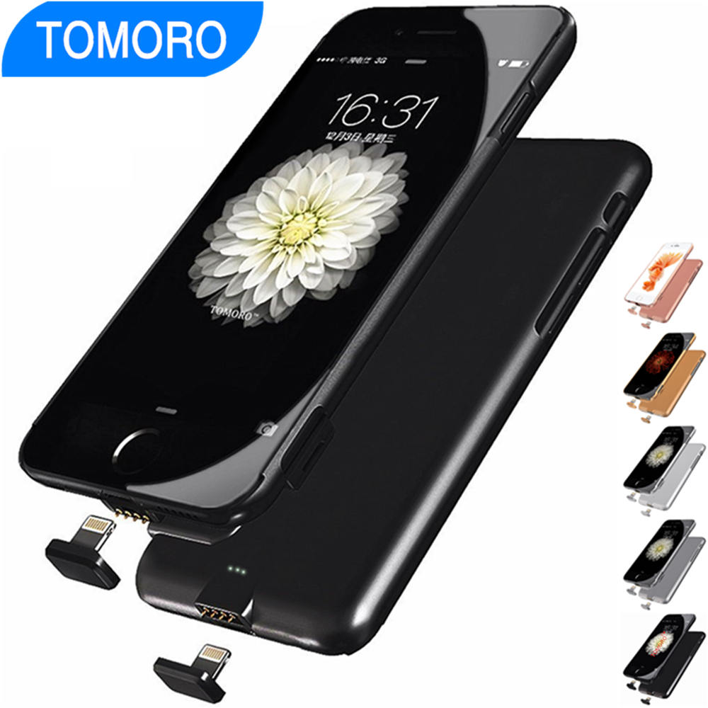 power bank pack battery case for iphone 7 7 plus charge. Black Bedroom Furniture Sets. Home Design Ideas