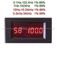 Dykb dc 5v-24v 12v quadrado onda fonte de sinal frequência ciclo de dever ajustável 0.1hz-34khz display digital led