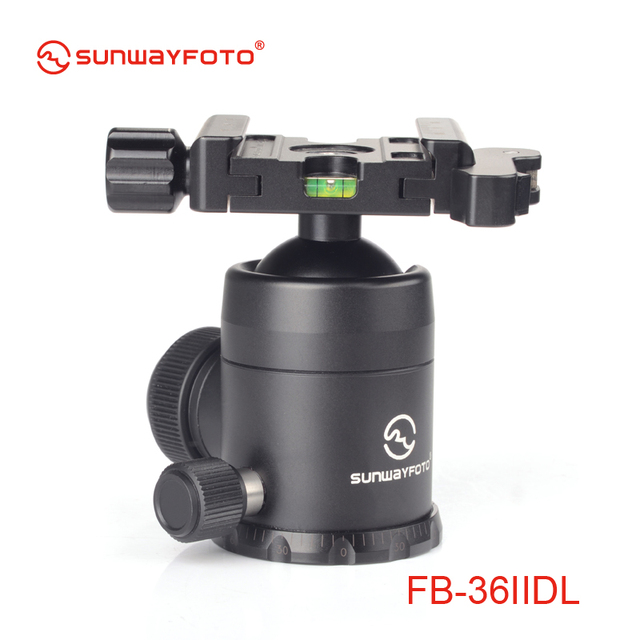 SUNWAYFOTO FB-36IIDL Tripod head for DSLR Camera Tripode Ballhead  Professional Aluminum Monopod Panoramic Tripod Ball Head