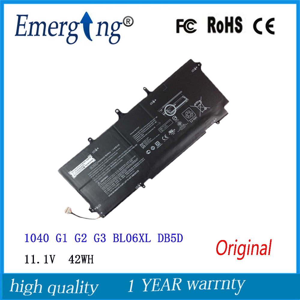 11.1 v 42Wh Nouveau Original batterie d'ordinateur portable pour HP Elitebook Folio 1040 G1 G2 G3 BL06XL DB5D 722236-2C1 171 HSTNN-DB5D W02C