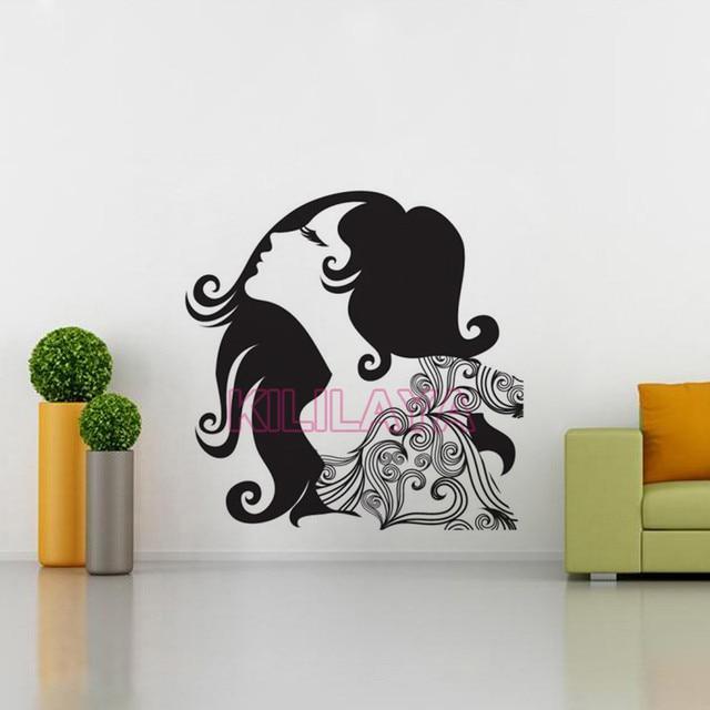 Superb Stickers Glamour Beautiful Women Vinyl Wall Sticker Decals Mural Wall Art  Wallpaper For Living Girl Room