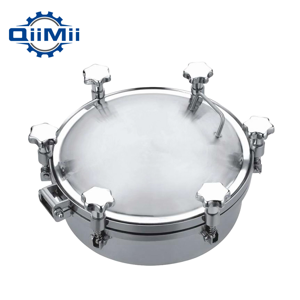 Food grade stainless steel round pressure manhole cover 300mm for fermentation tank with stainless steel handle