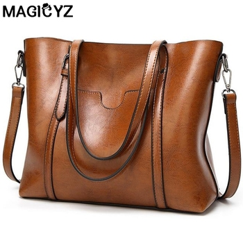 Women bag Women's PU Leather Handbags Luxury Lady Hand Bags With Purse Pocket Women messenger bag Big Tote 1