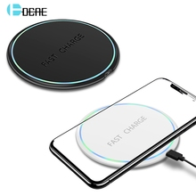 DCAE 10W Qi Wireless Charger For iPhone X XS Max XR 8 Plus USB Phone Fast Charging Pad Samsung S8 S9 S10+ Note 9