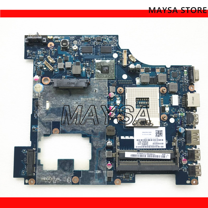 PIWG2 LA-6753P REV 1.0 Laptop motherboard placa de Sistema apto para Lenovo G570 HM65 Chipset, com interface HDMI