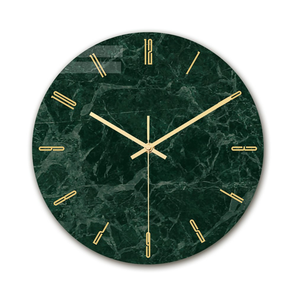 Modern Light Luxury Wall Clock Marble Texture Clock Home Bedroom Decoration Clock Acrylic Lasting Printing Tv Wall Decoration