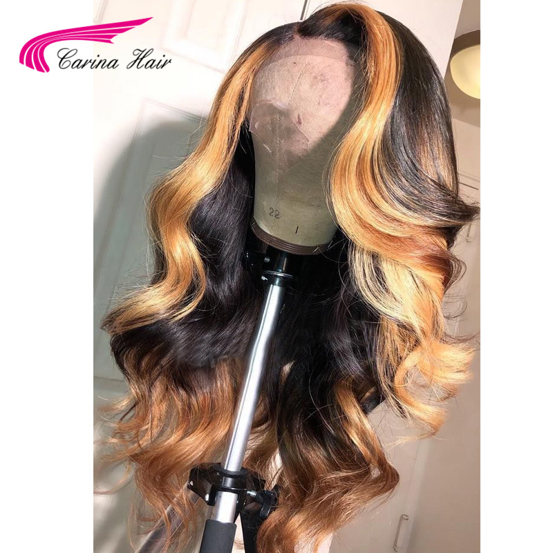 13x6 Deep part Lace Front Human Hair Wigs Body Wave 180% Density Brazilian Remy Human Hair Pre-Plucked Hairline Carina Hair
