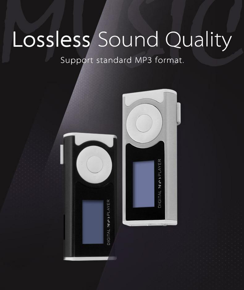 FLASH SALE] Portable MP3 Player MP3 Music Players Mini Clip